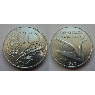 Itálie - 10 lire 1982