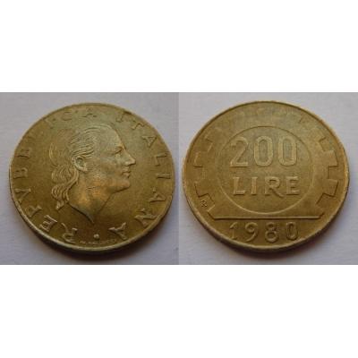 Itálie - 200 lire 1980