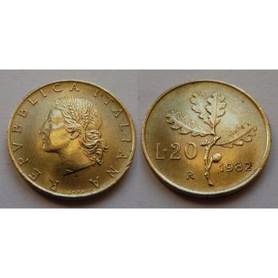 Itálie - 20 lire 1982
