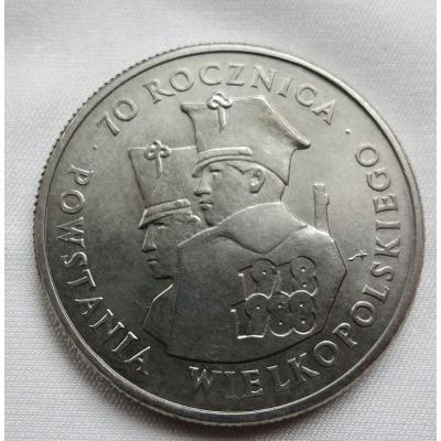 Polsko - 100 zlotych 1988, 70. výročí Velkopolského povstání