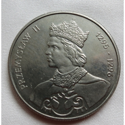 Polsko - 100 zlotych 1985, Král Przemysław II.