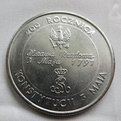 Polsko - 10 000 zlotych 1991, 200. výročí polské ústavy