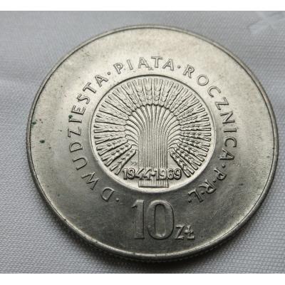 Polsko - 10 zlotych 1969, 25. výročí PRL