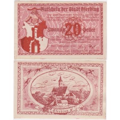 Rakousko - Gutschein 20 haléřů 1919