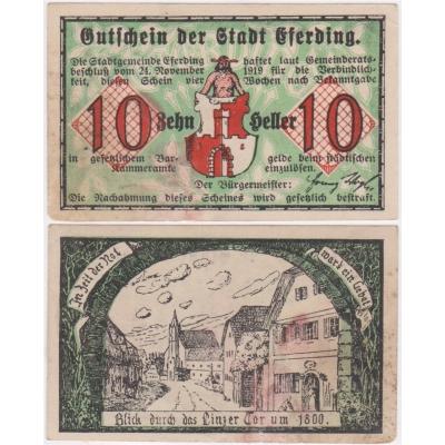 Rakousko - Gutschein 10 haléřů 1919