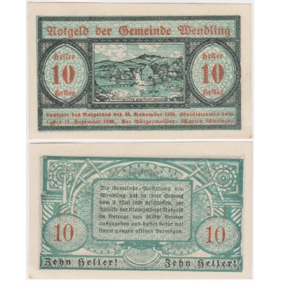 Rakousko - Notgeld 10 Haléřů 1920