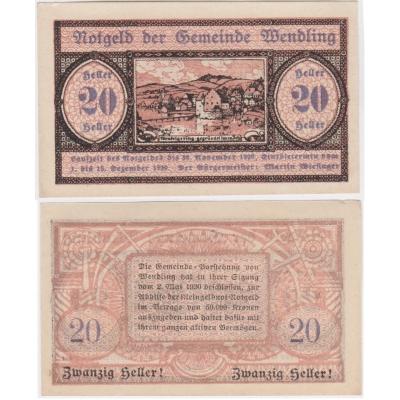 Rakousko - Notgeld 20 Haléřů 1920