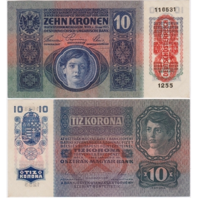 10 korun 1915 UNC
