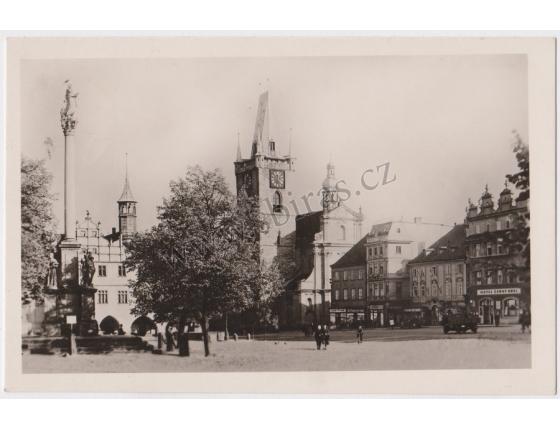 Litoměřice, Masarykovo nám. - pohlednice malý formát