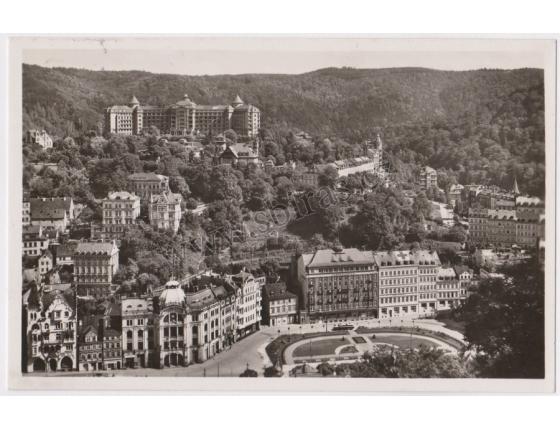 Karlovy Vary, Benešovo náměstí - pohlednice malý formát