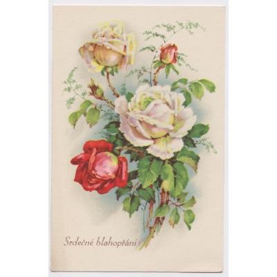 Srdečné blahopřání 1949 - pohlednice malý formát