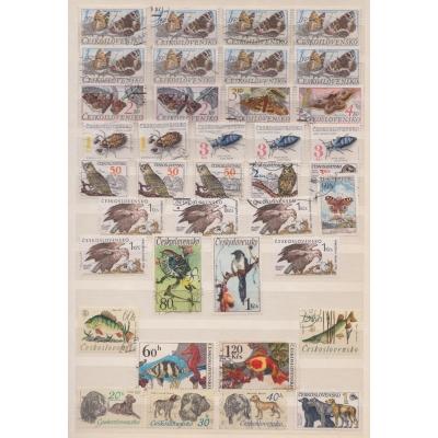 Partie známek - Československo, zvířata
