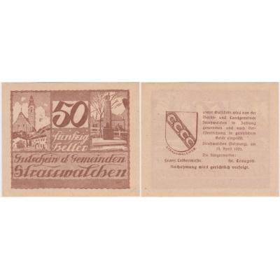 Rakousko - Gutschein 50 haléřů 1920