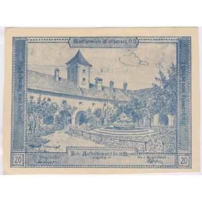 Rakousko - Gutschein 50 haléřů 1921