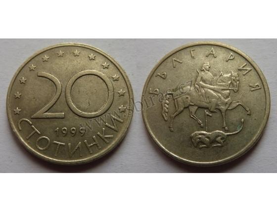 Bulharsko - 20 stotinki 1999