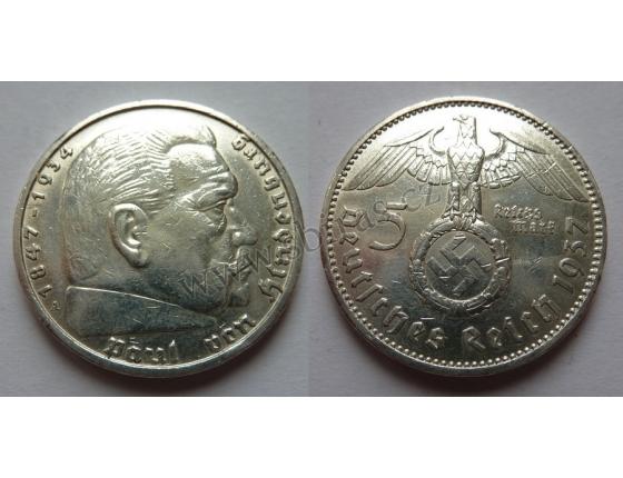 Německá říše - 5 marek 1937