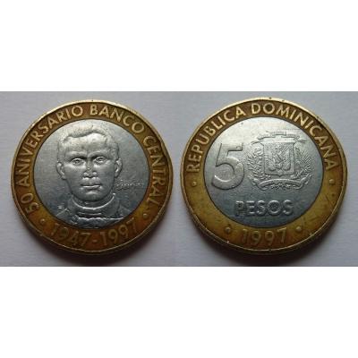 Dominikánská republika - 5 pesos 1997