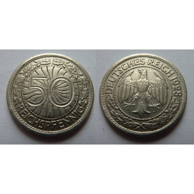Německo, Výmarská republika - 50 reichspfennig 1928