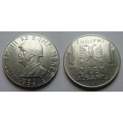 Albánie - 2 lek 1939