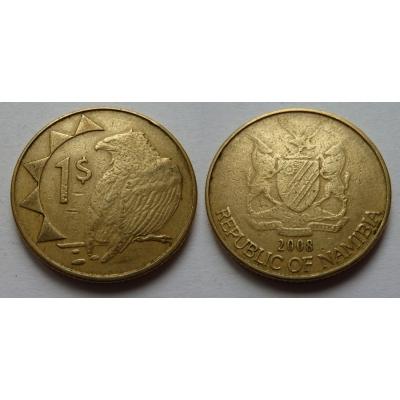 Namibie - 1 dolar 2008