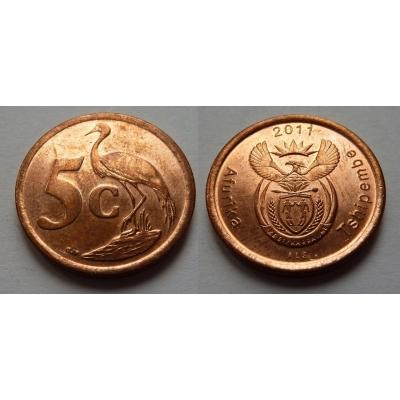 Jihoafrická republika - 5 cents 2011