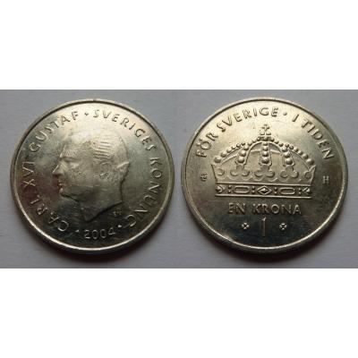 Švédsko - 1 krona 2004