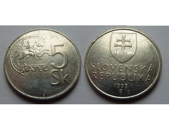 Slovensko - 5 korun 1995
