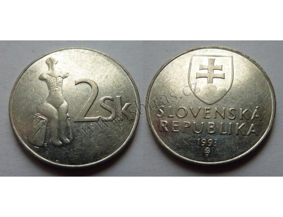 Slovensko - 2 koruny 1993