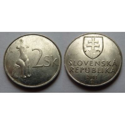 Slovensko - 2 koruny 2001