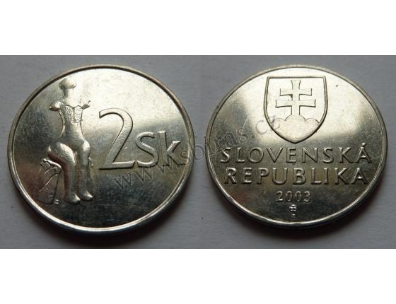 Slovensko - 2 koruny 2003