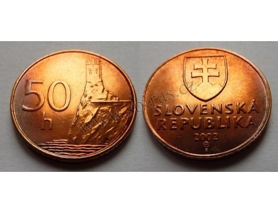Slovensko - 50 haléřů 2002