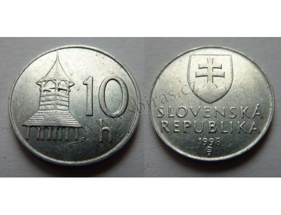 Slovensko - 10 haléřů 1998
