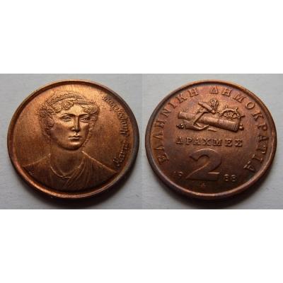 Řecko - 2 drachma 1988