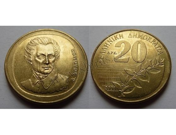 Řecko - 20 drachma 2000