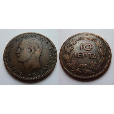 Řecko - 10 lepta 1878