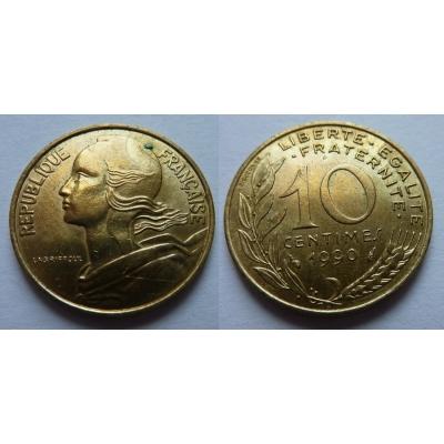 Francie - 10 centimes 1990