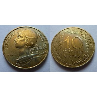 Francie - 10 centimes 1976