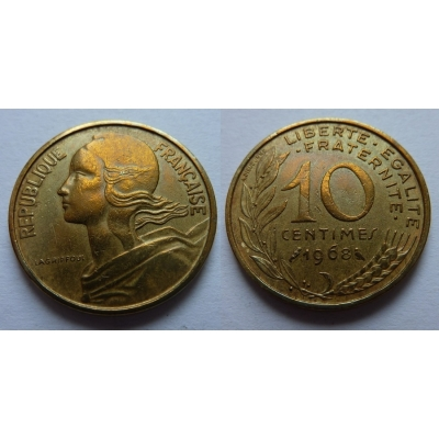 Francie - 10 centimes 1968