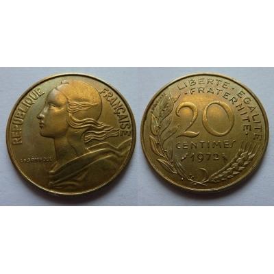 Francie - 20 centimes 1972