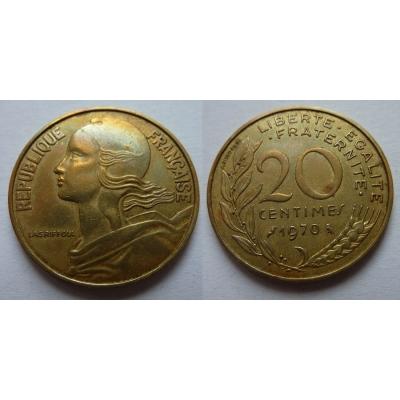 Francie - 20 centimes 1970