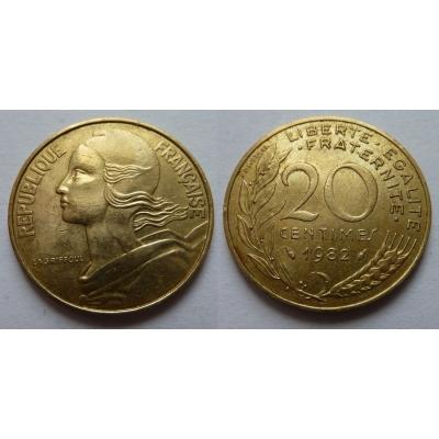 Francie - 20 centimes 1982
