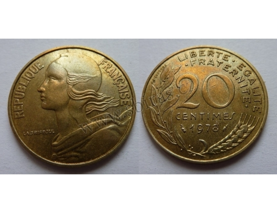 Francie - 20 centimes 1978