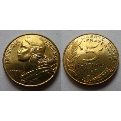 Francie - 5 centimes 1987