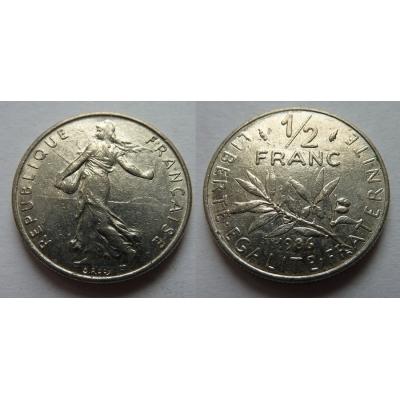 Francie - 1/2 franc 1986