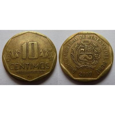 Peru - 10 centimos 2007
