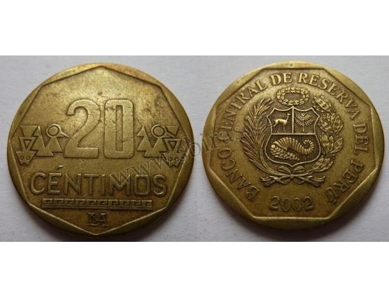 Peru - 20 centimos 2002