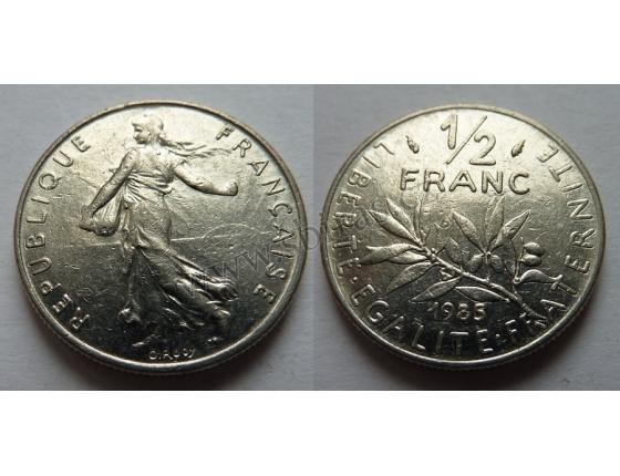 Francie - 1/2 franc 1985