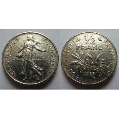 Francie - 1/2 franc 1965