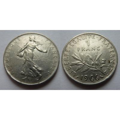 Francie - 1 franc 1966