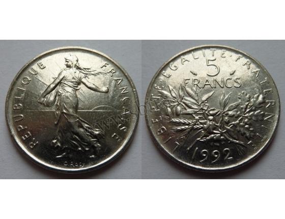 Francie - 5 francs 1992